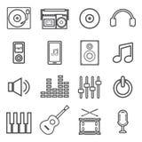 Linha ícone da música Imagem de Stock Royalty Free