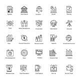 Linha ícone de negócio e de finança Fotografia de Stock Royalty Free