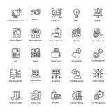 Linha ícone de negócio e de finança Imagem de Stock Royalty Free