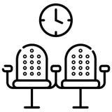 Linha ícone do assento do aeroporto ilustração do vetor