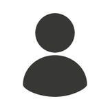 linha ícone do avatar do homem de negócios fotografia de stock royalty free