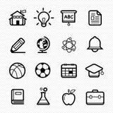 Linha ícone do símbolo da educação no fundo branco - Vector a ilustração ilustração stock