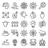 A linha ícone isolado vetor dos conceitos do negócio pode facilmente ser alterada e editado ilustração stock