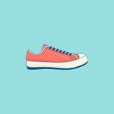 Linha ícone liso das sapatilhas Imagens de Stock Royalty Free