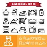 A linha ícones ajustou 15 Imagens de Stock Royalty Free