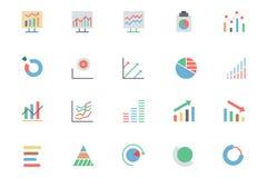 Linha ícones 3 da analítica dos dados do vetor Fotos de Stock Royalty Free