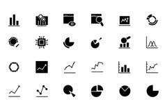 Linha ícones 1 da analítica dos dados do vetor Fotos de Stock Royalty Free