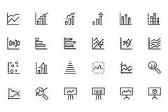 Linha ícones 2 da analítica dos dados do vetor Foto de Stock Royalty Free