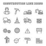 Linha ícones da construção Fotografia de Stock Royalty Free
