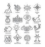 A linha ícones da gestão empresarial embala 41 ilustração royalty free