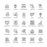 Linha ícones da Web e do Seo do vetor Fotografia de Stock