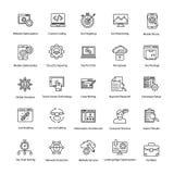 Linha ícones da Web e do Seo do vetor ajustados Imagem de Stock