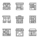 Linha ícones das montras Imagens de Stock