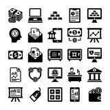 Linha ícones 5 depositar e de finança do vetor ilustração stock