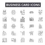 Linha ícones do cartão para a Web e o projeto móvel Sinais editáveis do curso Ilustrações do conceito do esboço do cartão ilustração royalty free