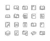Linha ícones do livro ilustração royalty free