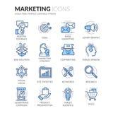 Linha ícones do mercado ilustração stock