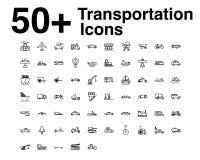 Linha ícones do transporte ajustados Ilustração do vetor ilustração do vetor