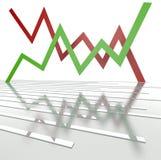 linha 3d metálica abstrata com gráfico Imagens de Stock