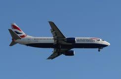 Linha aérea Boeing de British Airways fotos de stock royalty free