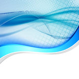 Linha abstrata azul dobrador do swoosh da onda da beira Imagens de Stock