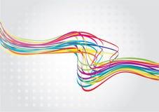 Linha abstrata da onda do arco-íris Fotos de Stock Royalty Free