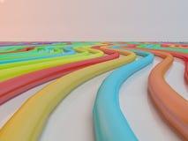 Linha abstrata do fundo de lápis do pastel da cor Foto de Stock Royalty Free
