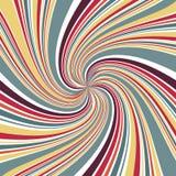Linha abstrata foco da pirueta com fundo retro da cor ilustração do vetor