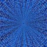 Linha abstrata fundo do vetor do código binário 3D Foto de Stock