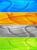 Linha abstrata fundos da arte, bandeiras Imagens de Stock