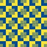 Linha abstrata illust geométrico do fundo do teste padrão de matéria têxtil Imagem de Stock Royalty Free