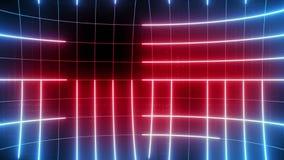 Linha abstrata LAÇO do fundo do movimento azul-vermelho video estoque