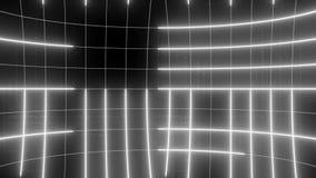 Linha abstrata LAÇO do fundo do movimento incolor filme