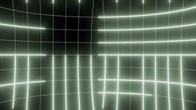 Linha abstrata LAÇO do fundo do movimento pálido - verde video estoque