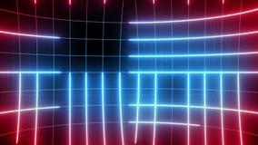 Linha abstrata LAÇO do fundo do movimento vermelho-azul vídeos de arquivo