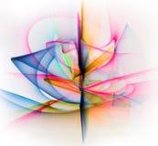 Linha abstrata movimento de cores diferentes, colo da abstração das curvas Imagens de Stock Royalty Free