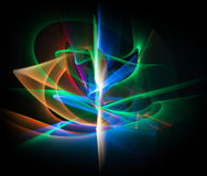 Linha abstrata movimento de cores diferentes, colo da abstração das curvas Fotografia de Stock Royalty Free