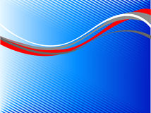 Linha abstrata ondulada Ilustração do Vetor
