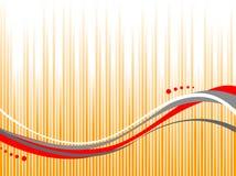 Linha abstrata ondulada Ilustração Stock