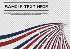A linha abstrata radial patriótica perfurador da bandeira vermelha e azul com efervescência stars o fundo do vetor Fotos de Stock Royalty Free