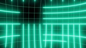 Linha abstrata verde do LAÇO do fundo do movimento video estoque