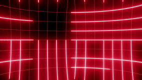 Linha abstrata vermelho do LAÇO do fundo do movimento video estoque