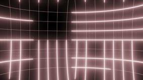 Linha abstrata vermelho pálido do LAÇO do fundo do movimento filme