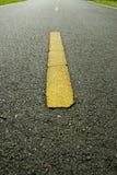 Linha amarela Foto de Stock