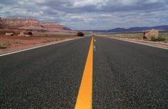 Linha amarela longa Foto de Stock Royalty Free