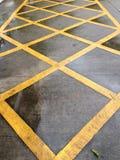 Linha amarela na estrada Imagens de Stock