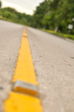 Linha amarelo no parque Foto de Stock