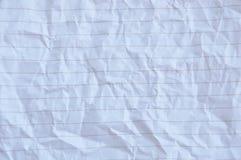 Linha amarrotada fundo e textura do livro de papel Fotografia de Stock
