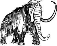 Linha antiga arte do elefante ilustração royalty free