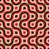 Linha arredondada vermelho azul irregular Tan Grungy Pattern do vetor inclinação de intervalo mínimo sem emenda ilustração do vetor
